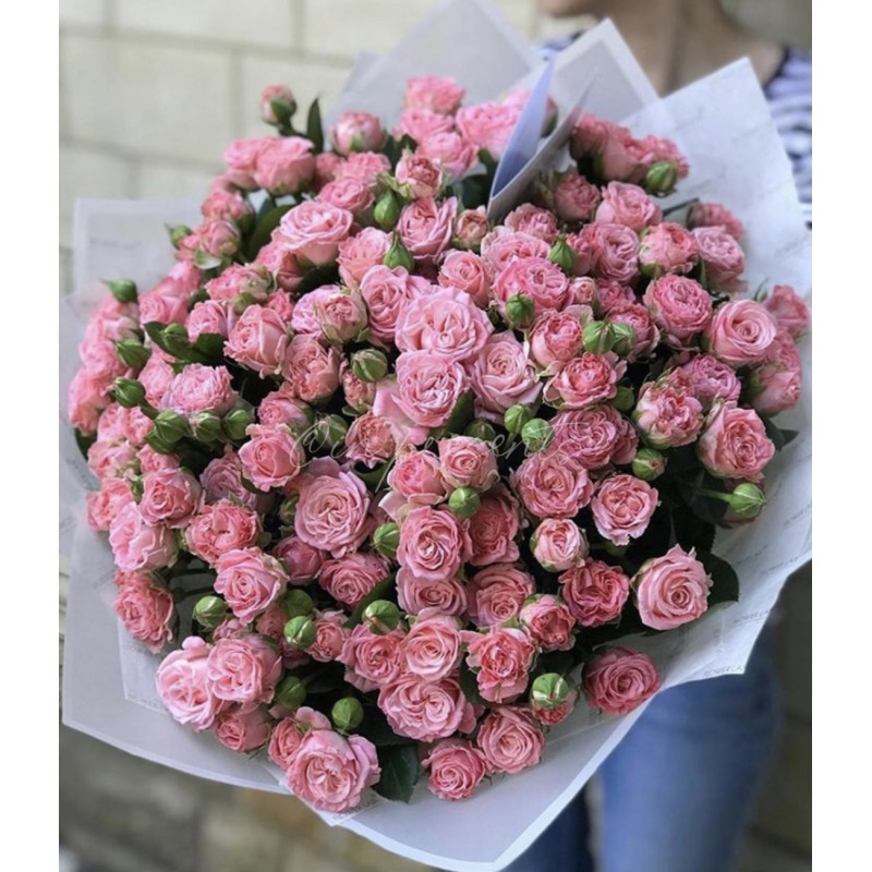 51 кустовая роза в крафте