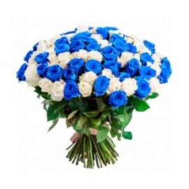 Синее на белом