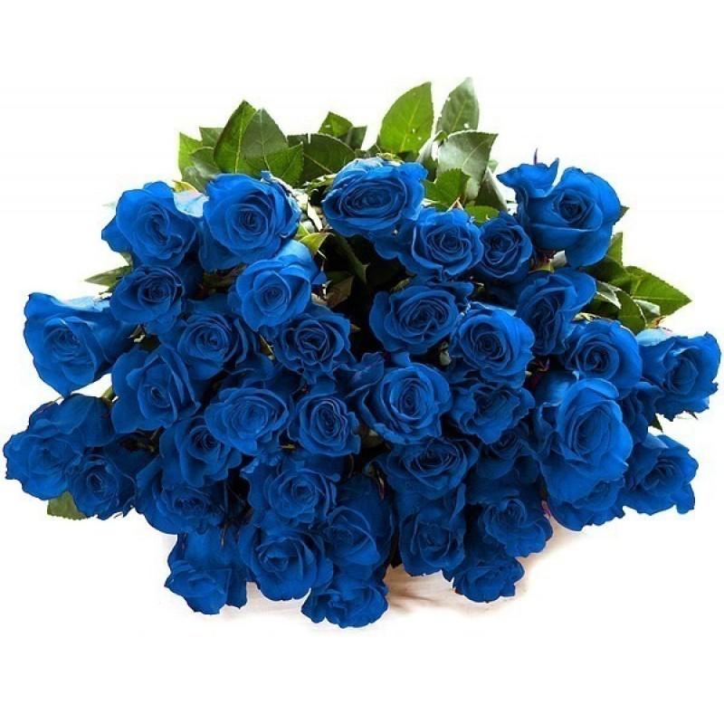 Доставка, синий букет от всей души