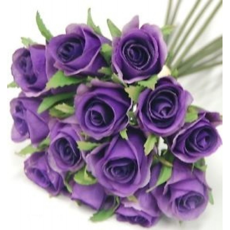 Фиолетовые розы поштучно от 19 штук!