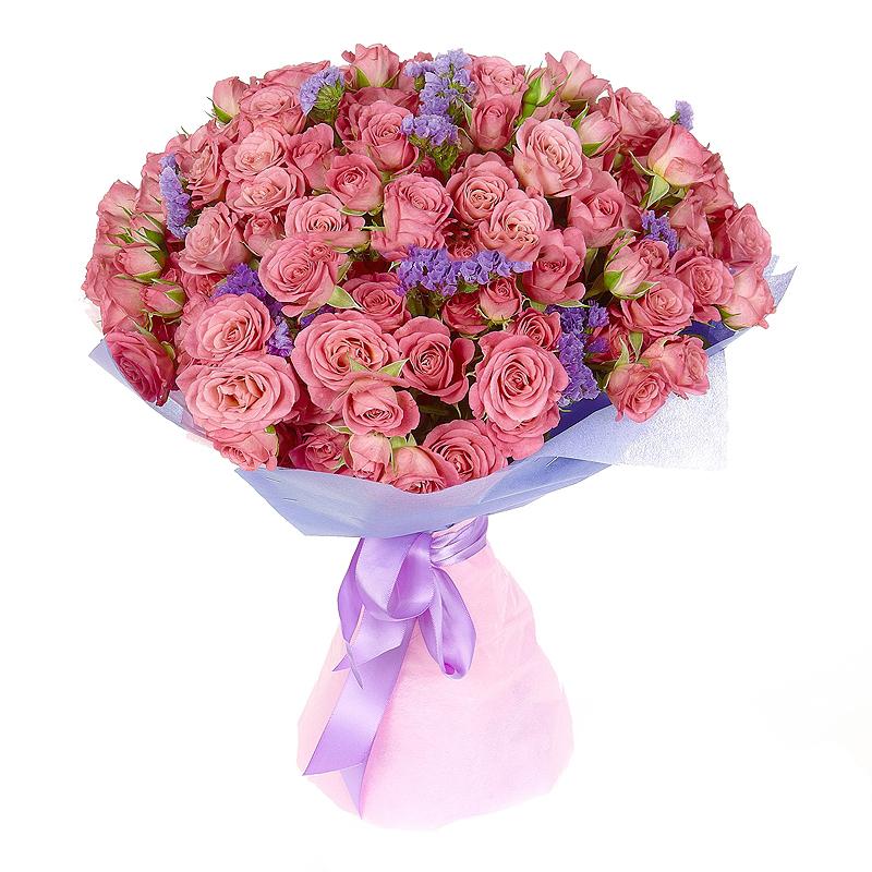 Микс из 75 кустовых роз