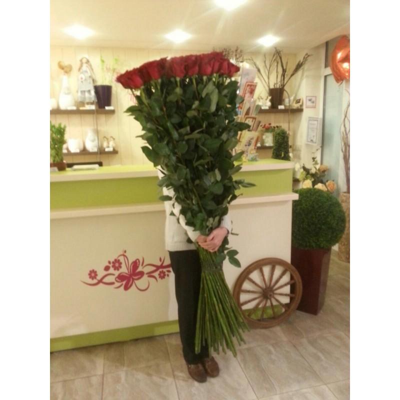 Розы 170 см., поштучно от 5 штук.