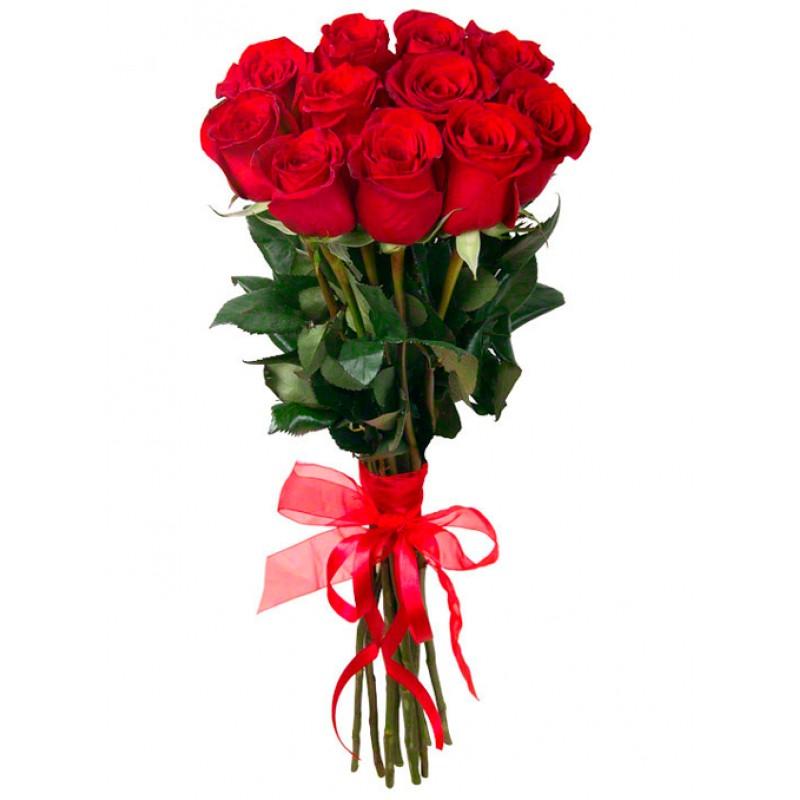 Красные розы высотой 120 см. поштучно от 19 штук