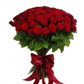 51 красная роза 80 см.