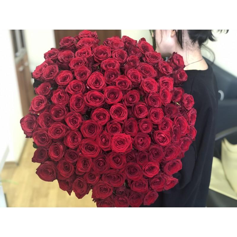 101 Роза Ред Наоми высота 70 см